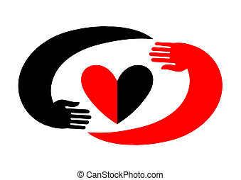 Symbol of love in the style of flat. Will be useful for decoration, as a logo, as an element of web design and different kinds of printing products
