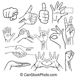 Hands - Human Hand Sign collection
