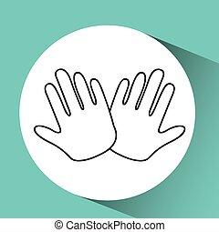 hands family concept icon design