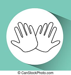 hands family concept icon design