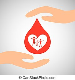 hands family safety care icon