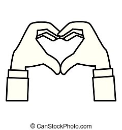 hands forming a heart