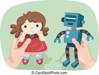 Hands Gender Dysphoria Doll Robot Toys