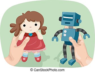 Hands Gender Dysphoria Doll Robot Toys