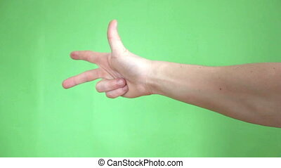 hands gestures green screen