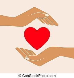 Hands Giving Love Symbol.