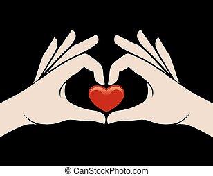 Hands heart sign