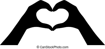 Hands heart vector icon