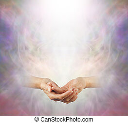 Hands held in peaceful Meditation