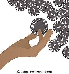 HANDS HOLD tokens gray casino