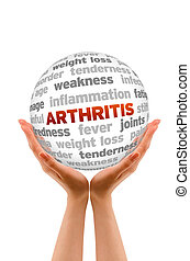 Arthritis - Hands holding a Arthritis Word Sphere sign on...