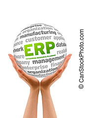 Enterprice Resource Planning - Hands holding a Enterprice...