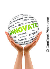 Hands holding a Innovate Sphere