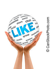 Hands holding a Like Sphere