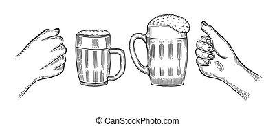 beer glasses mug