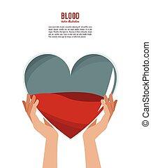 hands holding blood heart