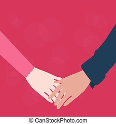 hands holding couple male female fall in love romantic relationship