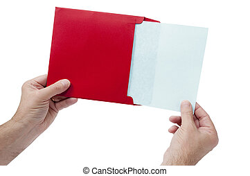 Hands Holding Envelope With Paper