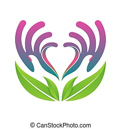 hands holding heart eco health concept