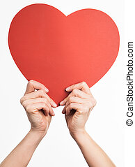 Hands holding heart shape