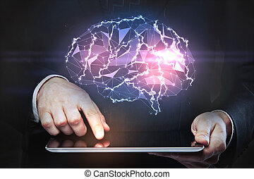 Artificial intelligence and technology concept