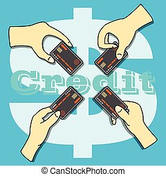Hands holding the Credit Card