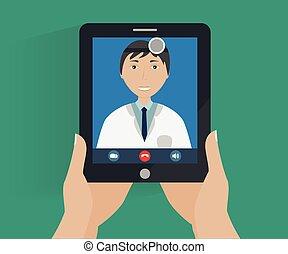 telemedicine conceptual illustration