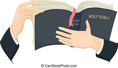 Hands Holy Bible Illustration