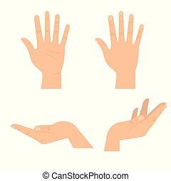 hands human symbols icon