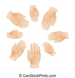 hands in circle as a symbol of teamwork