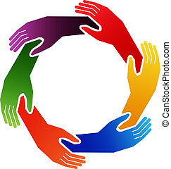 Hands in circle holding one each other
