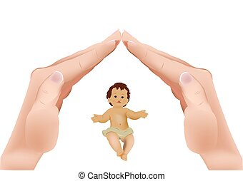 hands in crib