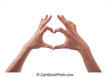 Hands in the form of heart