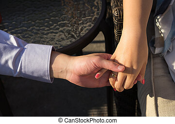 Hands in touch