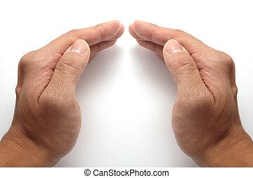 Hands joined togethe