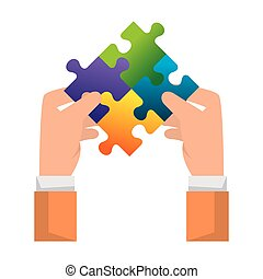 hands lifting puzzle attached solution