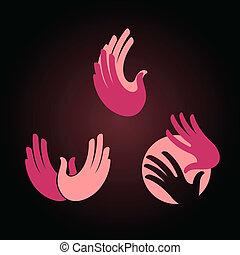 hands logo elements