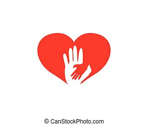 Hands logo love
