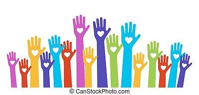 hands love color