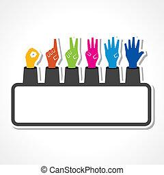 Hands make number zero to five