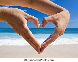 Hands making a heart shape