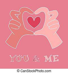 hands making heart symbol
