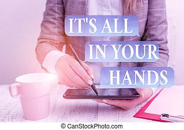 hands., mano., presa, destino, telefono, s, concetto affari,...