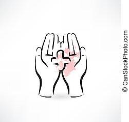hands medicine icon
