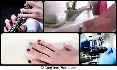 Hands, montage