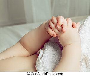 hands of a baby