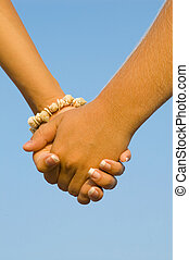 hands of a young couple