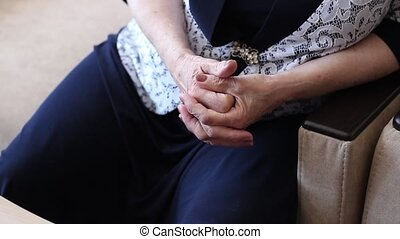 hands of an old woman - old woman accompanied by a story...