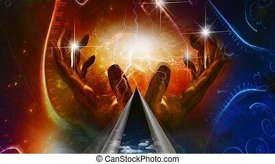 Hands of creator