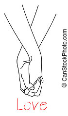 hands of falling in love